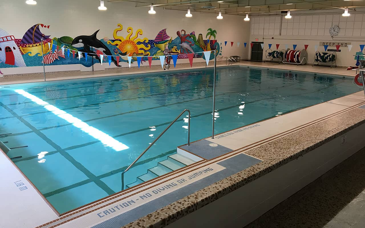 Indoor pool at the Alderwood Centre