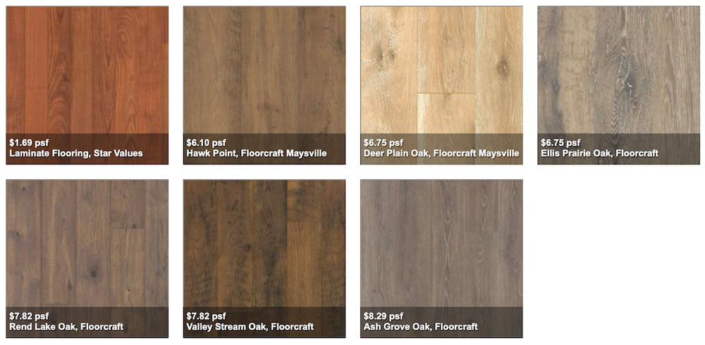 Laminate Wood Types